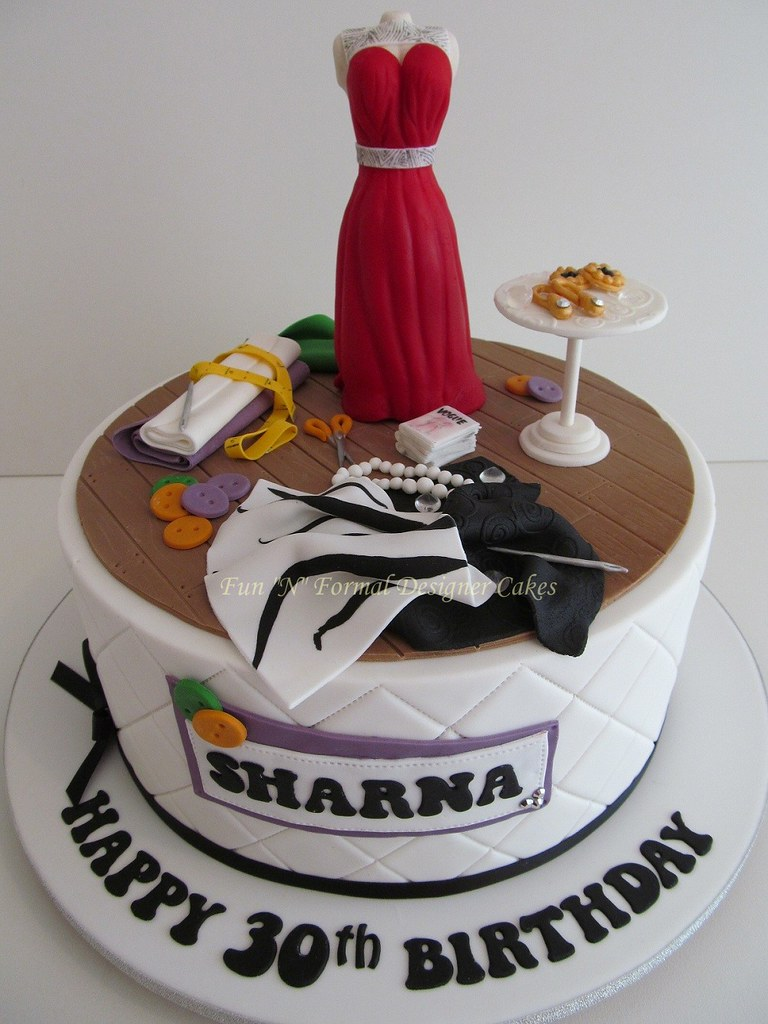 Fashion Designer Themed Birthday Cake Sharna Is An Up And Flickr