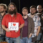 Matthew E. White with host Alisa Ali in WFUV's Studio A. 8.20.12. Photo by Andrew Arne