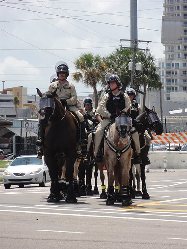 Mounted police at RNC