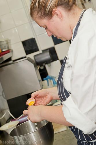 Preparing the meringue