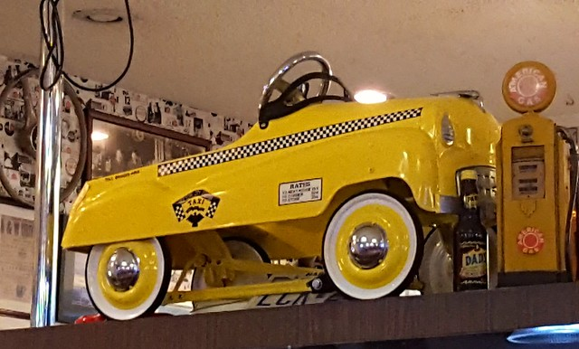 Vintage Yellow Taxi Pedal Car