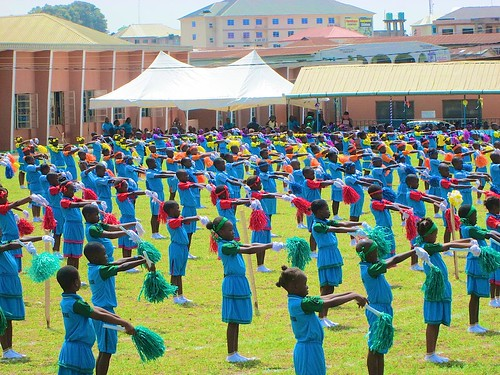 The Callinsthenics display at the St Louis Nursery and Primary School, Akure, 16th biennial Interhouse Sports Competition