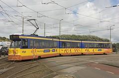 Scheveningen HTM tram 3133 vertrek.