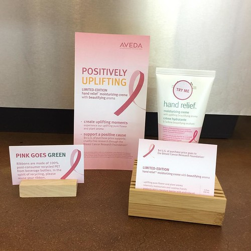 Positively Uplifting Breast Cancer Awareness month with Aveda hand relief moisturizing creme. #RyanPatrickSalon #ErinDrive #Aveda #BreastCancerAwareness #Choose901