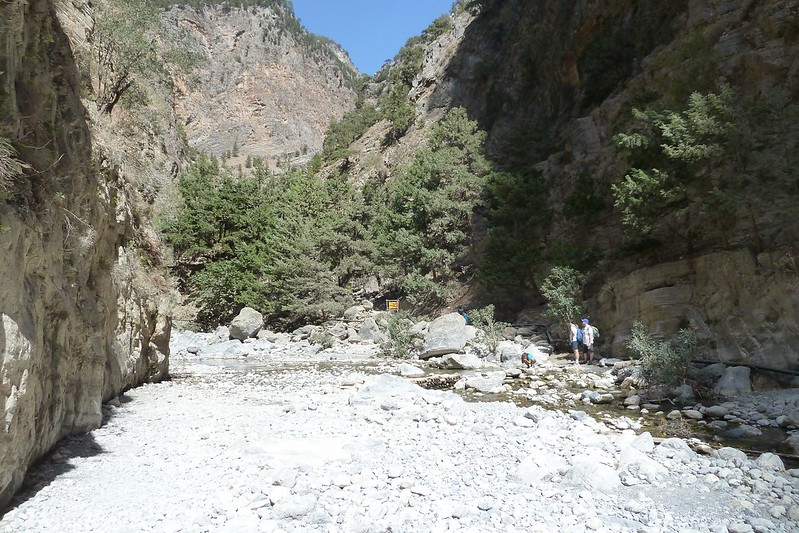Looking back up Samaria Gorge