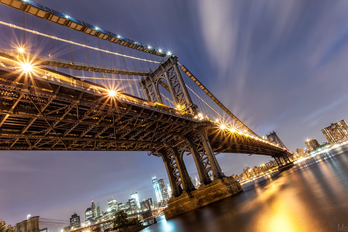 park city nyc newyorkcity longexposure bridge light sky ny newyork motion reflection tower water statue brooklyn night clouds skyscraper buildings river print stars photography lights photo scenery downtown gallery cityscape image cloudy manhattan worldtradecenter fineart lowereastside under picture dumbo bridges canvas brooklynbridge manhattanbridge eastriver flare wtc lighttrails suspensionbridge lowermanhattan starburst brooklynbridgepark tower1 twobridges freedomtower dumbopark