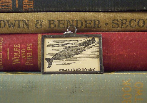Whale Dictionary Pendant