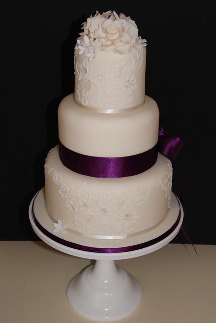Catherine Brush Embroidery Wedding Cake  Flickr  Photo