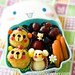 Fried mashed potato balls and mashed potato teddy bento copy