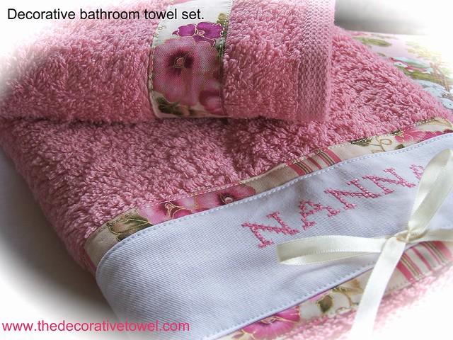 Decorative Bathroom Towel Set Decorative Bathroom Towel