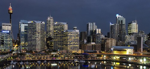 Sydney CBD and Darling Harbour panorama by Daniel Schwabe