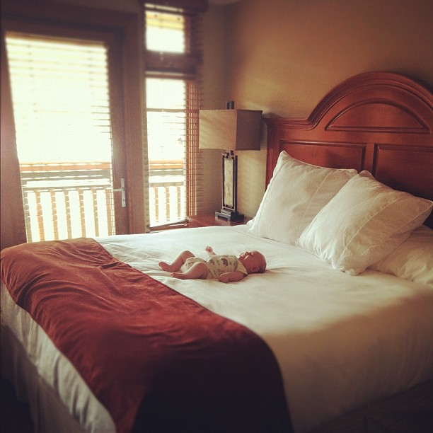 Love our room at @canyonsresort. I may never leave! #evoconf