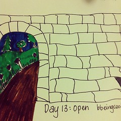 Day 13: Open. #photoadayjuly #bdrawsthings #handdrawn