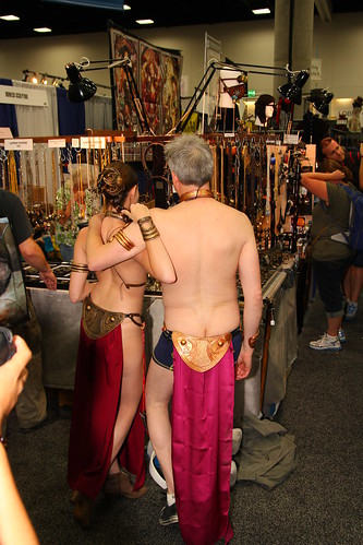 Chris Gore as Slave Leia with another Slave Leia