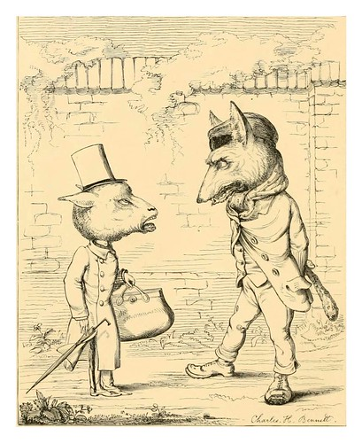 011- el lobo y el cordero-The fables of Aesop and others translated into human nature 1857-.Charles Henry Bennett