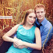Couple's Engagement Shot in Tall Grass, Hermann Park, Houston, Texas