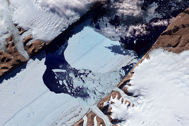 Closeup of the Ice Island from Petermann Glacier NASA image acquired July 21, 2012.