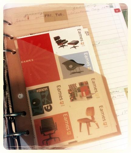 stamps filofax