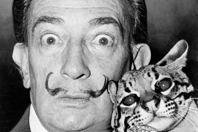 Salvador Dalí ©Roger Higgins/US Library of Congress