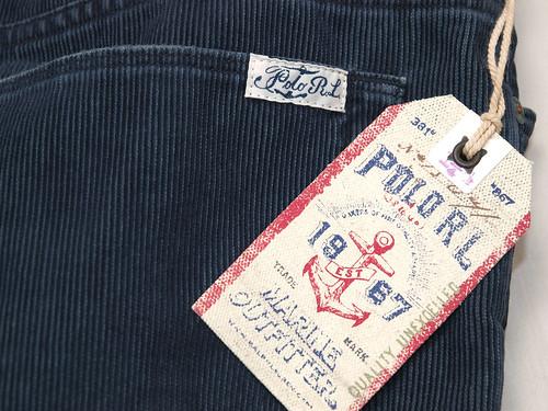 Ralph Lauren / Washed Corduroy Cut-off Short
