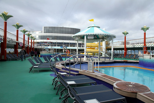 Norwegian Pearl - Looking Back from Pool