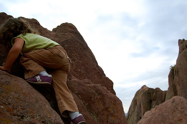 Up - Climbing at Red Rocks, Boulder, CO