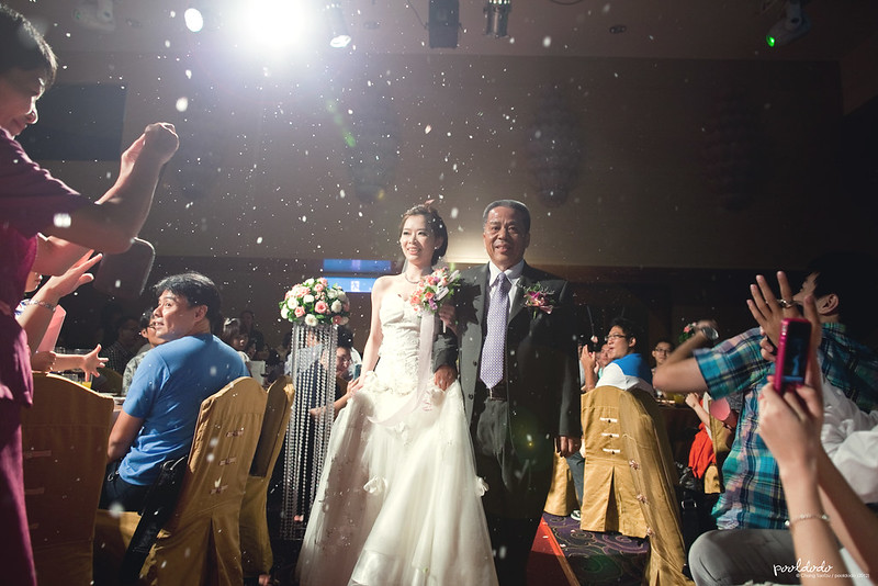 [wedding] appear with father