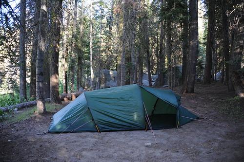 テント設置完了