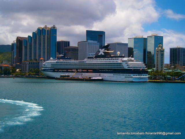 Cruise Ship In Honolulu Port  Flickr  Photo Sharing