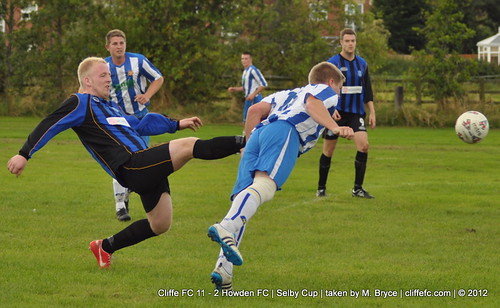 Cliffe FC 11 - 2 Howden AFC (Selby Cup) 4Aug12
