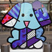 Dog Sculpture by Romero Britto