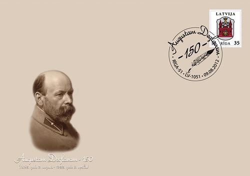 Aploksne par godu Augusta Deglava 150. jubilejai