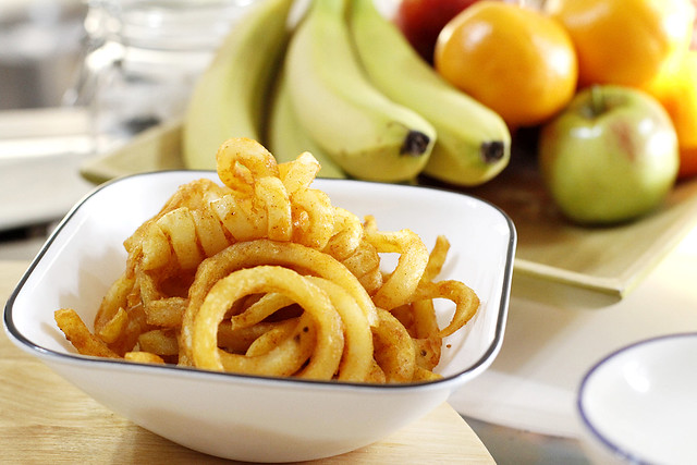 Curly Fries baked at home