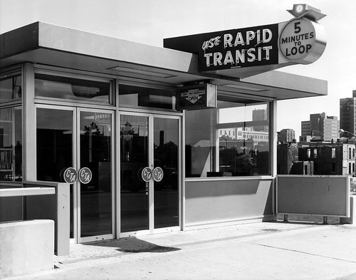 The Damen/Congress L stop in 1958