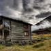 Norwegian log cabin in high mountain by mortenprom