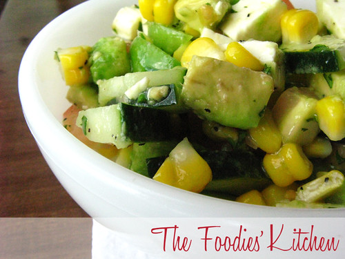 Corn and Avocado Salad with Cilantro Vinaigrette