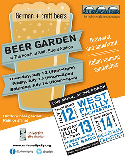 beer garden promotion (by: University City District)