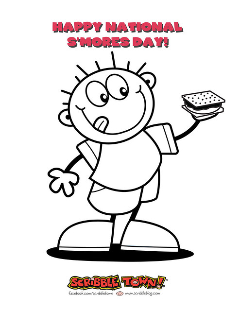 Smore Coloring Page | Olivero