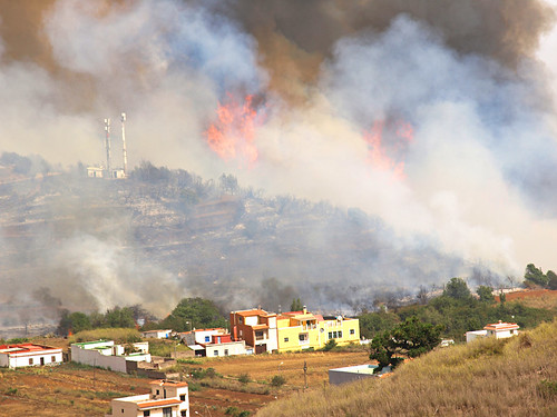 Forest Fires at Erjos, Tenerife Aug 2012