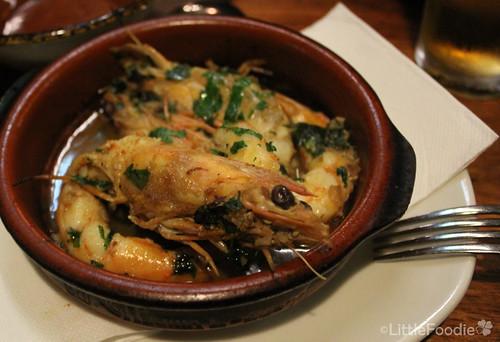 Gambas a la Sidra - garlic prawn