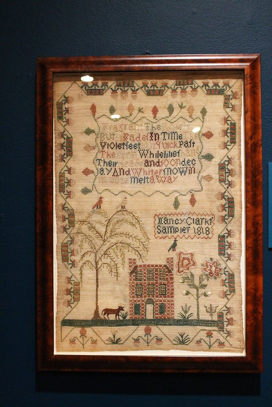 needlework at the DAR museum