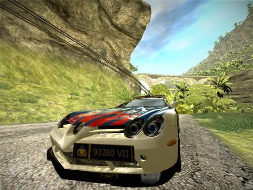 Mercedes Benz SLR Indonesian Cop Car