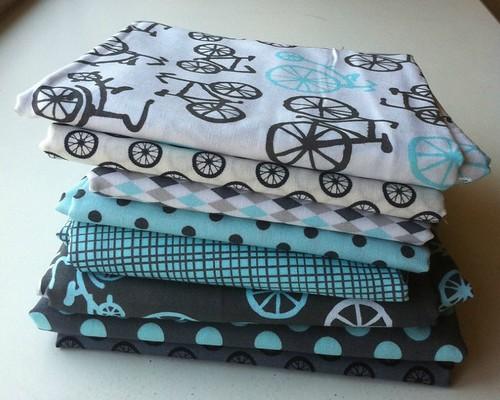Bike quilt fabrics