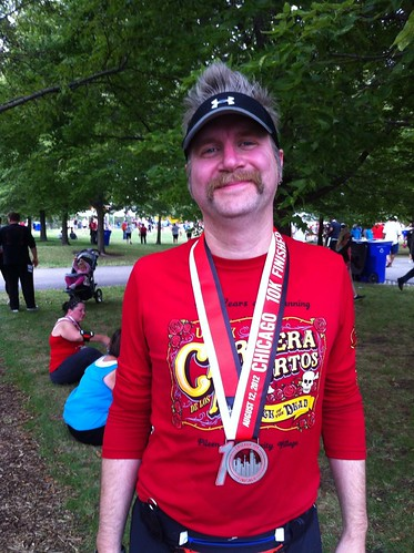 Fuzzy, Chicago 10K finisher