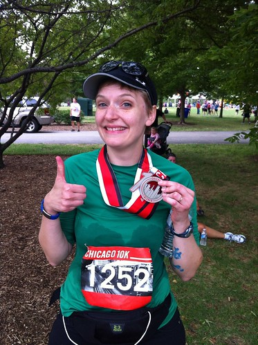 Erica, Chicago 10K finisher