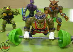 """TURTLE GAMES"" TEENAGE MUTANT NINJA TURTLES :: POWER LIFTIN' DON xiv / ..power lift (( 1992 ))"