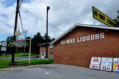 Hi-Way Liquors Vintage Sign & Store