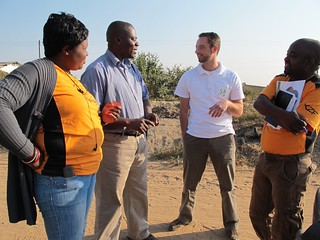 Hans meets Keepers Zambia Foundation staff in Kalomo