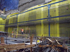 CM013 - West Wall Rebar Progress with Beams in Place (08-14-2012)