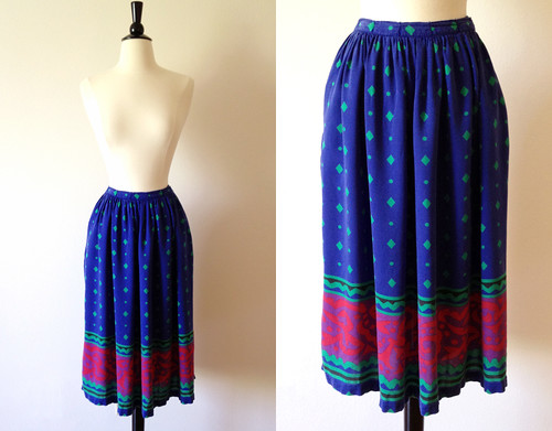 liz claiborne geometric print skirt